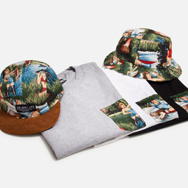 COSMOS - BLACK 5 PANEL CAMPER HAT