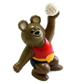 """vintage MOSCOW OLYMPICS MISHA """"Volleyball"""" figure"""