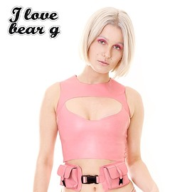 Meat - I<3BEAR G CHEST TOP (pink)