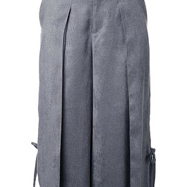 Taro Horiuchi - cropped pleated trousers
