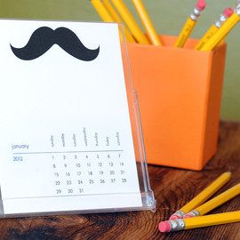 Ruff House Art - 2012 Mustache of the Month Desktop Calendar