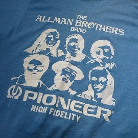 "FRUIT OF THE LOOM - 「<used>80's FRUIT OF THE LOOM ""ALLMAN BROS. × PIONEER""TEE blue""made in USA"" size:M 6800yen」完売"