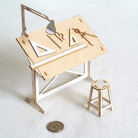 ThomasHouhaDesigns - Miniature Drafting Table Model Kit  - Architectural Model
