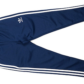 adidas Originals - Open Hem Super Star Track Pant-Navy×White