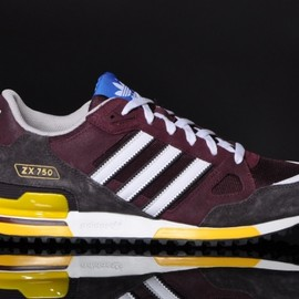 adidas - ZX 750 M - Light Maroon/White/Yellow