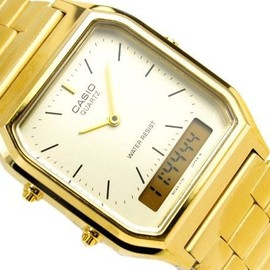 CASIO - Gold Digital Analog Vintage Watch