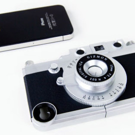 Rangefinder - Iphone case, looks like a real camera, with 3 lenses