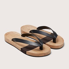 FEIT - Unisex Bamboo Flip Flop  LEATHER