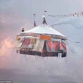 flying houses - Magical: Even tents are plucked out of the ground and sent soaring