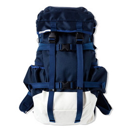 CASH CA - ×immun. BACK PACK / NAVY/WHITE