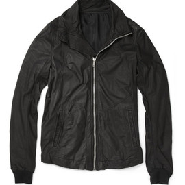 Rick Owens - Intarsia Distressed Leather Jacket