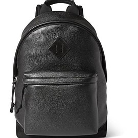 TOM FORD - Suede-Trimmed Full-Grain Leather Backpack