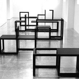 Hedi Slimane - Table, Bookshelves, ...