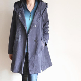 coat - Leisure Hood coat lady autumn long windbreaker coat