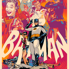 martin ansin - Batman 1966 Poster | Mondo 375 limited edition screen print バットマン 1966 ポスター