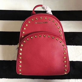MICHAEL KORS - MICHAEL Michael Kors Abbey Studded Leather Backpack Red