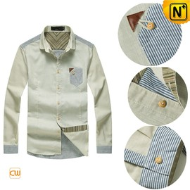 CWMALLS - Casual Button up Dress Shirts for Men CW114570