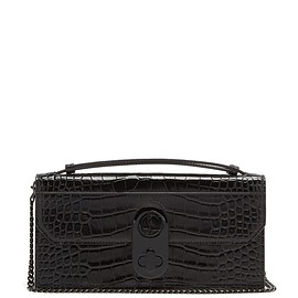 Christian Louboutin - Elisa crocodile-effect leather baguette bag