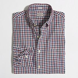 J.CREW - SLIM WASHED SHIRT IN TWO-COLOR TATTERSALL