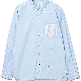 """BEDWIN & THE HEARTBREAKERS - L/S SHORT ROUND COLLAR SHIRT """"PUCCI"""""""