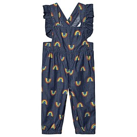 STELLA McCARTNEY - Rainbow Chambray Overalls Blue/Multi