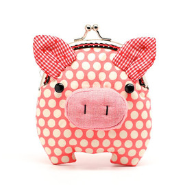 misala - Little salmon pink piggy clutch purse