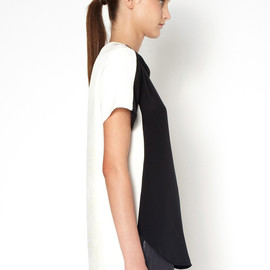 3.1 Phillip Lim - T-SHIRT WITH OVERLAPPED SIDE SEAM