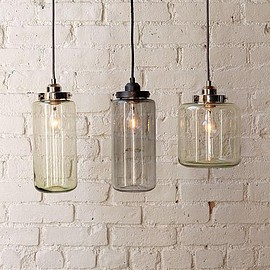 West Elm - Glass Jar Pendants