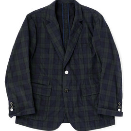 bal - COTTON TARTAN PLAID SPORT COAT