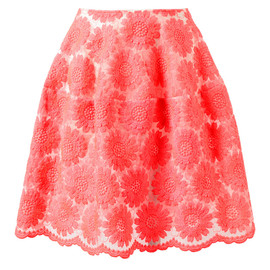SIMONE ROCHA - FLORAL EMBROIDERED SILK-BLEND SKIRT