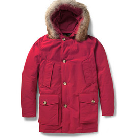 woolrich - WoolrichByrd Cloth Arctic Parka Coyote-Trimmed Coat