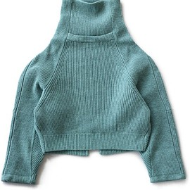 TOGA PULLA - Merino Wool Knit Pullover 2 (light blue)