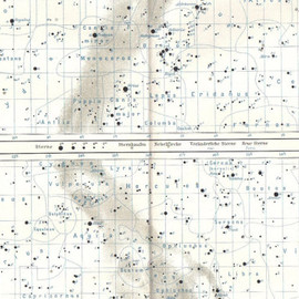 the Equatorial Southern and Northern Hemisphere - 1905 Starchart of the Equatorial Southern and Northern Hemisphere Original Antique Map