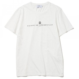 CUISSE DE GRENOUILLE - CUISSE DE GRENOUILLE×BEAMS LIGHTS / 40th別注 ロゴプリントTシャツ