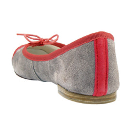 REPETTO - BB SUEDE CAPTOE IN GREY & WATERMELON