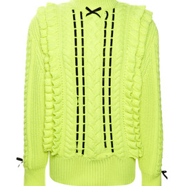 CHRISTOPHER KANE - Neon Textured Ribbon Jumper