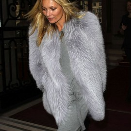 style icon - Kate Moss in fur