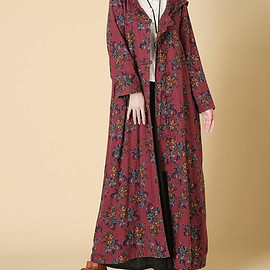 long dress - women Hooded long dress Loose fitting Women autumn Clothing