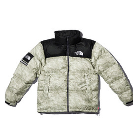 Supreme, THE NORTH FACE - Paper Print Nuptse Jacket