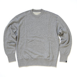LOOPWHEELER - Cotton with cashmere crew neck
