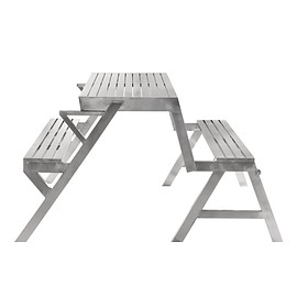 DULTON - STAINLESS TABLE & BENCH DOUBLE