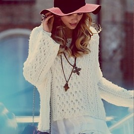 Free People - Open Stitches Pullover