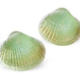 Marianne Olry - Shell Earrings, Green