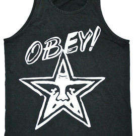 OBEY - Vintage Early 90s OBEY Tank Top Made in the USA Mens Size Medium