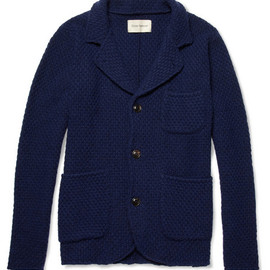 Oliver Spencer - Oliver Spencer Basket-Weave Buttoned Cardigan