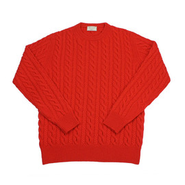 MAISON KITSUNE - CABLE KNIT_RED