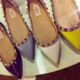 valentino - spiked flats