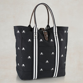 RUGBY RALPH LAUREN - Canvas & Leather Skull Tote