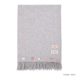 AVOCA - LAMBSWOOL THROWS / CHARM GREY large