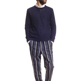 ami - COLLEGE STRIPESCARROT FIT TROUSERS